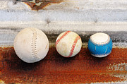 Baseball Close Up Framed Prints - Sports - Game Balls Framed Print by Art Block Collections