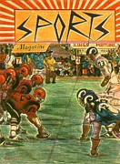 Illustration Drawings - Sports Magazine - American Football Poster by Peter Art Print Gallery  - Paintings Photos Posters