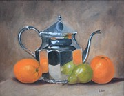 Teapot Paintings - Spot of Tea by Estelle Stepherson