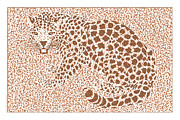 Cheetah Digital Art - Spots Over Jaguar Color Illustration Artwork by Michel Godts
