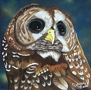 Owl Eyes Prints - Spotted Owl Print by Debbie LaFrance