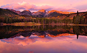 Autumn Landscapes Prints - Sprague Lake Sunrise Print by Doug Andrews