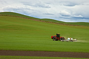 Fertilize Art - Spraying the Fields by Mary Lee Dereske