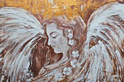 Archangel Mixed Media Prints - Spreading Light Print by Alma Yamazaki