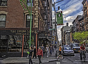 Spring Nyc Acrylic Prints - Spring and Mulberry - Street Scene - NYC Acrylic Print by Madeline Ellis