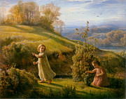 Little Girls Digital Art - Spring by Anne Francois Janmot