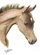 Colt Paintings - Spring Arrival - Arabian Foal by Suzanne Schaefer