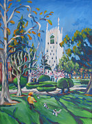 League Painting Prints - spring arrives early at Burns Tower Print by Vanessa Hadady BFA MA