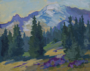 Spring At Mount Rainier Print by Diane McClary