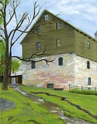 Old Mills Paintings - Spring at the Mill by Deborah Butts