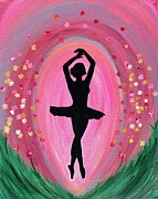Spring Ballet Dancer Print by Vicki Kennedy