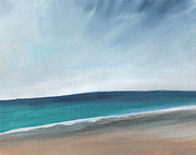 Spring Beach- Contemporary Abstract Landscape Print by Linda Woods