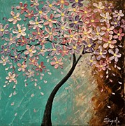 Cherry Blossoms Painting Originals - Spring Blossoms by Tomoko Koyama