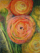 Ranunculus Paintings - Spring Bouquet by Gitta Brewster