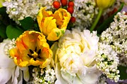 Street Photography Originals - Spring Bouquet by Iconic Images Art Gallery David Pucciarelli