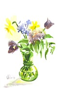 Interior Still Life Metal Prints - Spring Bouquet III Metal Print by Kip DeVore