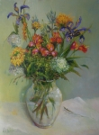 Casual Originals - Spring Bouquet in Glass          copyrighted by Kathleen Hoekstra