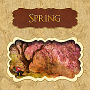 Spring Time Art - Spring button by Mike Savad