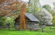 Cabin Wall Photos - Spring Cabin I - Blue Ridge Parkway by Dan Carmichael
