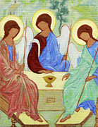 Holy Trinity Icon Painting Framed Prints - Spring Celebration Framed Print by Xueling Zou