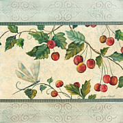 Dragonfly Paintings - Spring Cherries-2 by Jean Plout
