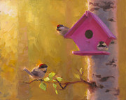 Karen Whitworth - Spring Chickadees 1 -...