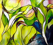 Art Nouveau Glass Art - Spring by Christine Alexander