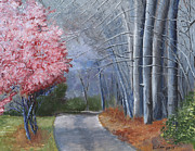 Scenic Drive Paintings - Spring Color in Winter by William Killen