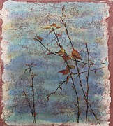 Browns Tapestries - Textiles Posters - Spring Cottonwood Poster by Carolyn Doe