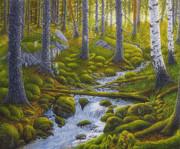 Spring Creek Print by Veikko Suikkanen