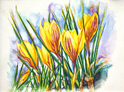 Quite Posters - Spring Crocus Poster by Patricia Allingham Carlson