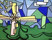Abstract Windmill. Paintings - Spring  by D August