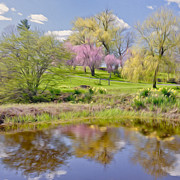 New England Landscapes Digital Art Framed Prints - Spring Day Framed Print by Bill  Wakeley
