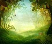 Environment Design Digital Art - Spring design - Forest meadow by Mythja  Photography