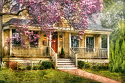 Porches Prints - Spring - Door - Vacation House Print by Mike Savad