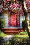 Spring - Door - Westfield Nj - Pink Print by Mike Savad