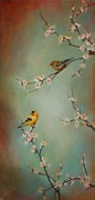 Tree Blossoms Paintings - Spring Dream by Lori  McNee