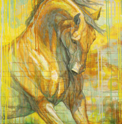Horse Race Paintings - Spring Energy by Silvana Gabudean
