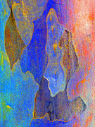 Colourful Bark Prints - Spring Eucalypt Abstract 10 Print by Margaret Saheed
