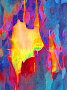Colored Bark Posters - Spring Eucalypt Abstract 17 Poster by Margaret Saheed
