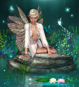 Fantasy Creatures Prints - Spring Fae 2 Print by David Griffith