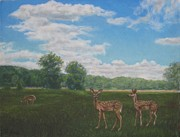 Fauns Paintings - Spring Fauns by Tim Maher