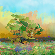 Fancy Mixed Media - Spring Field by Bedros Awak