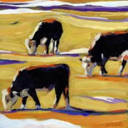 Cows Prints - Spring Field Print by Molly Poole