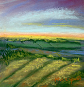 Spring Pastels Originals - Spring Fields by Addie Hocynec
