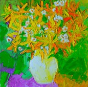 Compostion Art - Spring Flowers by Ana Maria Edulescu