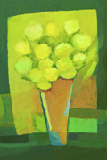 Fresh Green Painting Framed Prints - Spring Flowers Framed Print by Lutz Baar