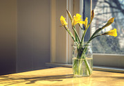 Glass Jar Posters - Spring Flowers Poster by Scott Norris