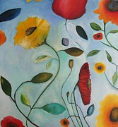 Venus Art Paintings - Spring Garden by Venus