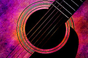 Frets Digital Art Prints - Spring Guitar Print by Andee Photography